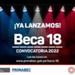 Beca 18 - concurso 2022